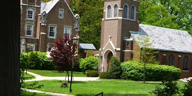 Shealy Hall and Mount Manresa chapel built in 1920s