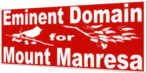 New Petition – Eminent Domain for Mount Manresa