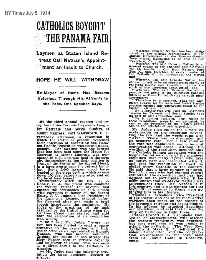 Exhibit I  -1914_July_8_NYT