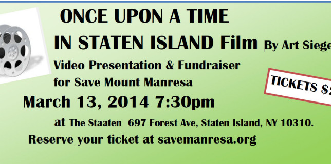 Fundraiser Event: Film Presentation  Once Upon A Time in Staten Island by Art Siegel